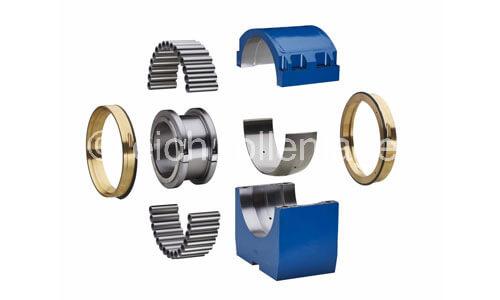 Split roller bearings